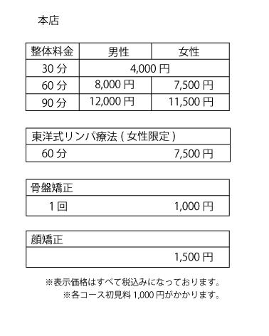 hana_本店料金表HP